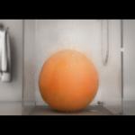 シャワーを浴びるオレンジ CGアニメーション