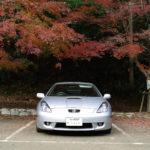 大福山の駐車場のセリカ