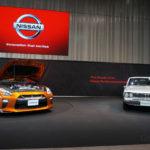 NISSAN GT-R 2017 アルティメイトシャイニーオレンジ & ハコスカ スカイライン2ドアハードトップ2000GT—R(1972年:KPGC10)