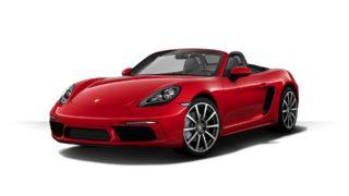 Porsche 718 Boxster のカーマインレッドとキャララホワイトメタリックの車両をコンフィギュレーターで作ってみた
