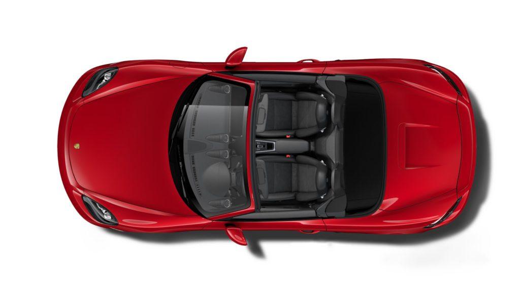 Porsche 718 Boxster カーマインレッド ルーフ