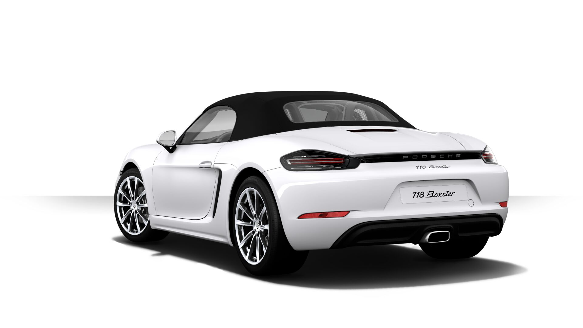 Porsche 718 Boxster キャララホワイトメタリック リア