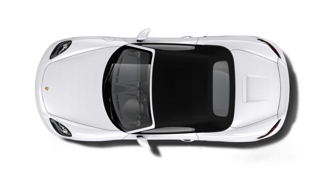 Porsche 718 Boxster キャララホワイトメタリック ルーフ