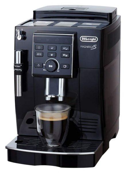 デロンギ コンパクト全自動コーヒーメーカー マグニフィカS ブラック ECAM23120BN