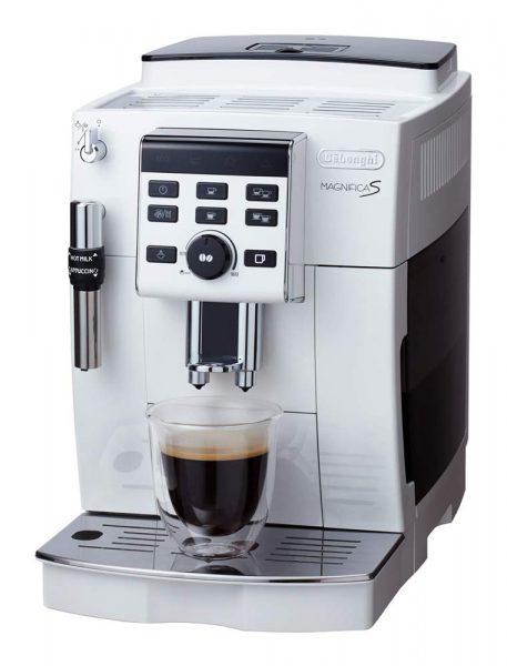 デロンギ コンパクト全自動コーヒーメーカー マグニフィカS ホワイト ECAM23120WN